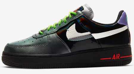 A Third Air Force 1 Vandalized Arrives in Sail, Black and