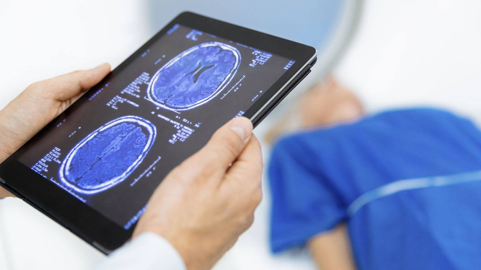 Patient being scanned
