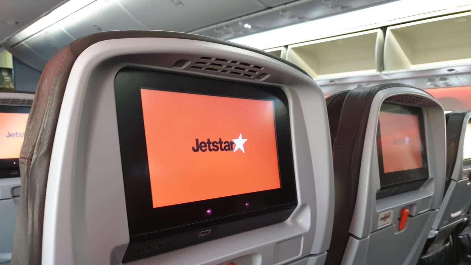 Jetstar seats on a 787