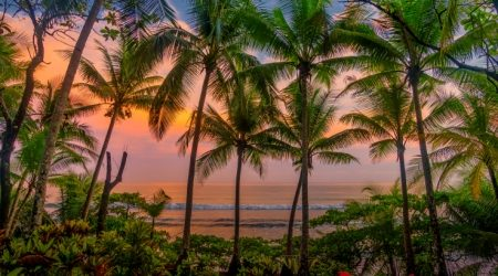 Tropical Sunset, Beach, Corcovado National Park, Costa Rica