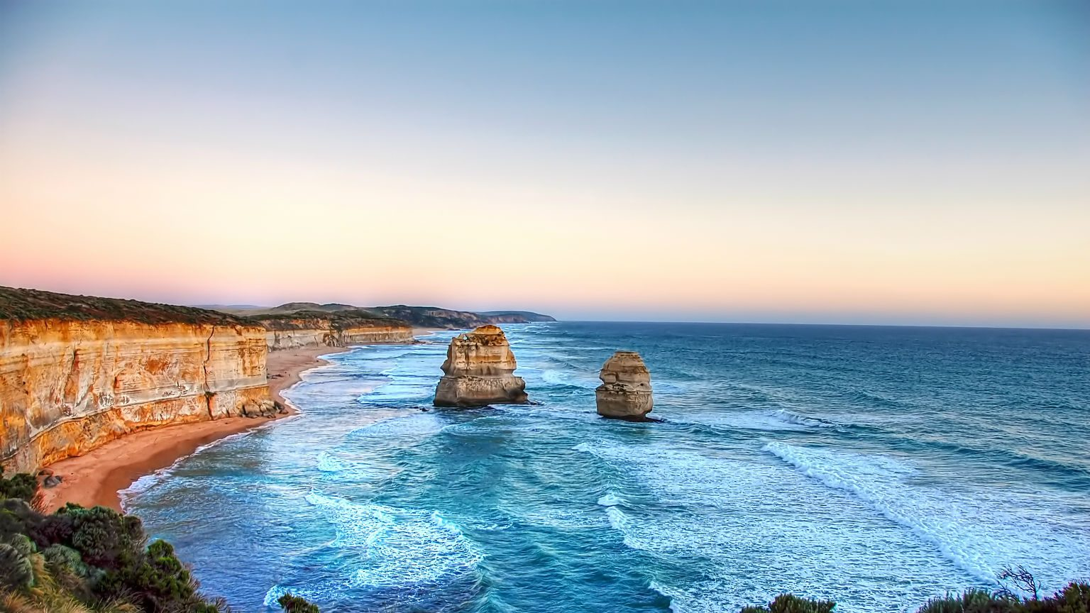 Great Ocean Road at dusk