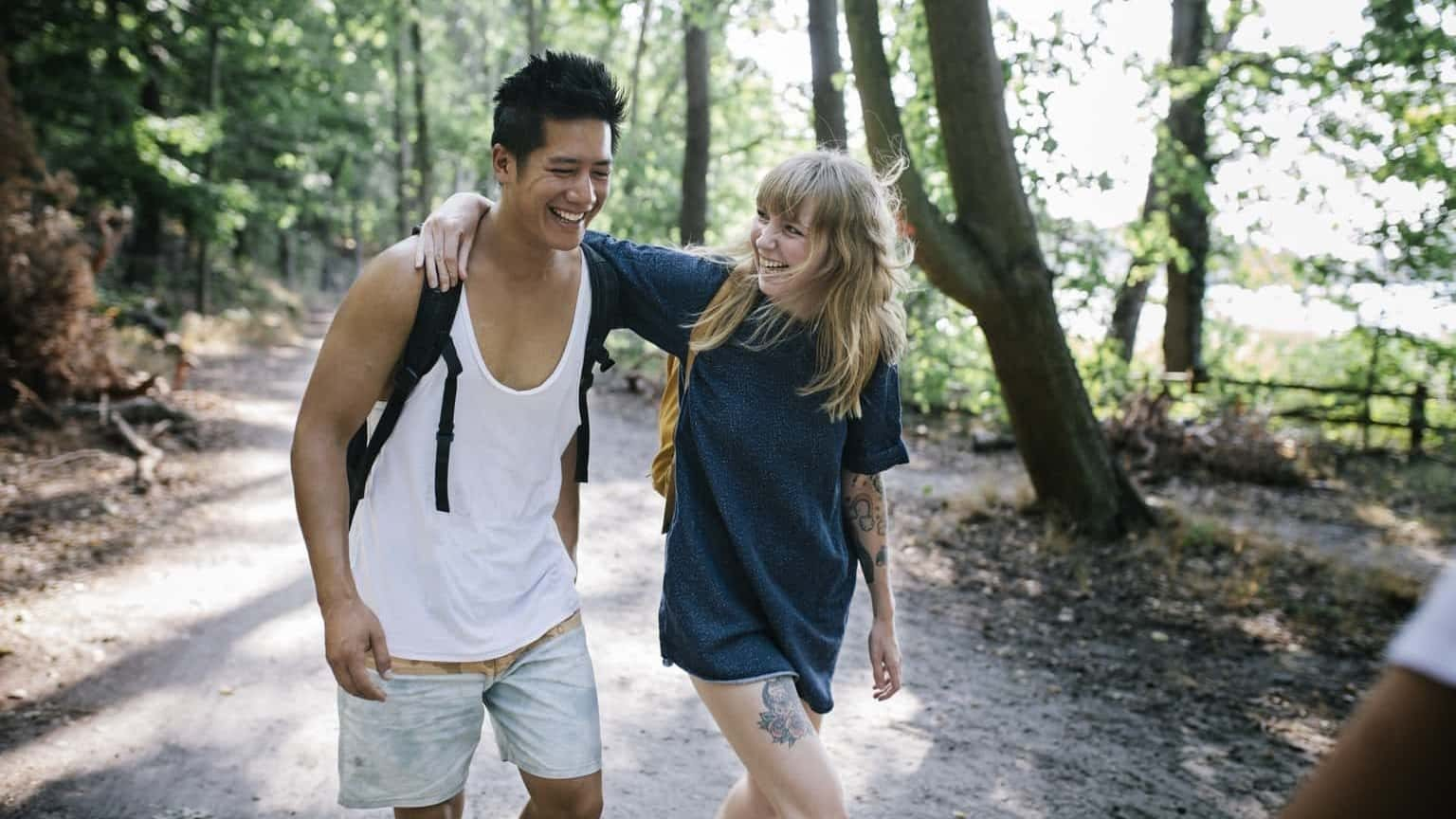 Couple in forest