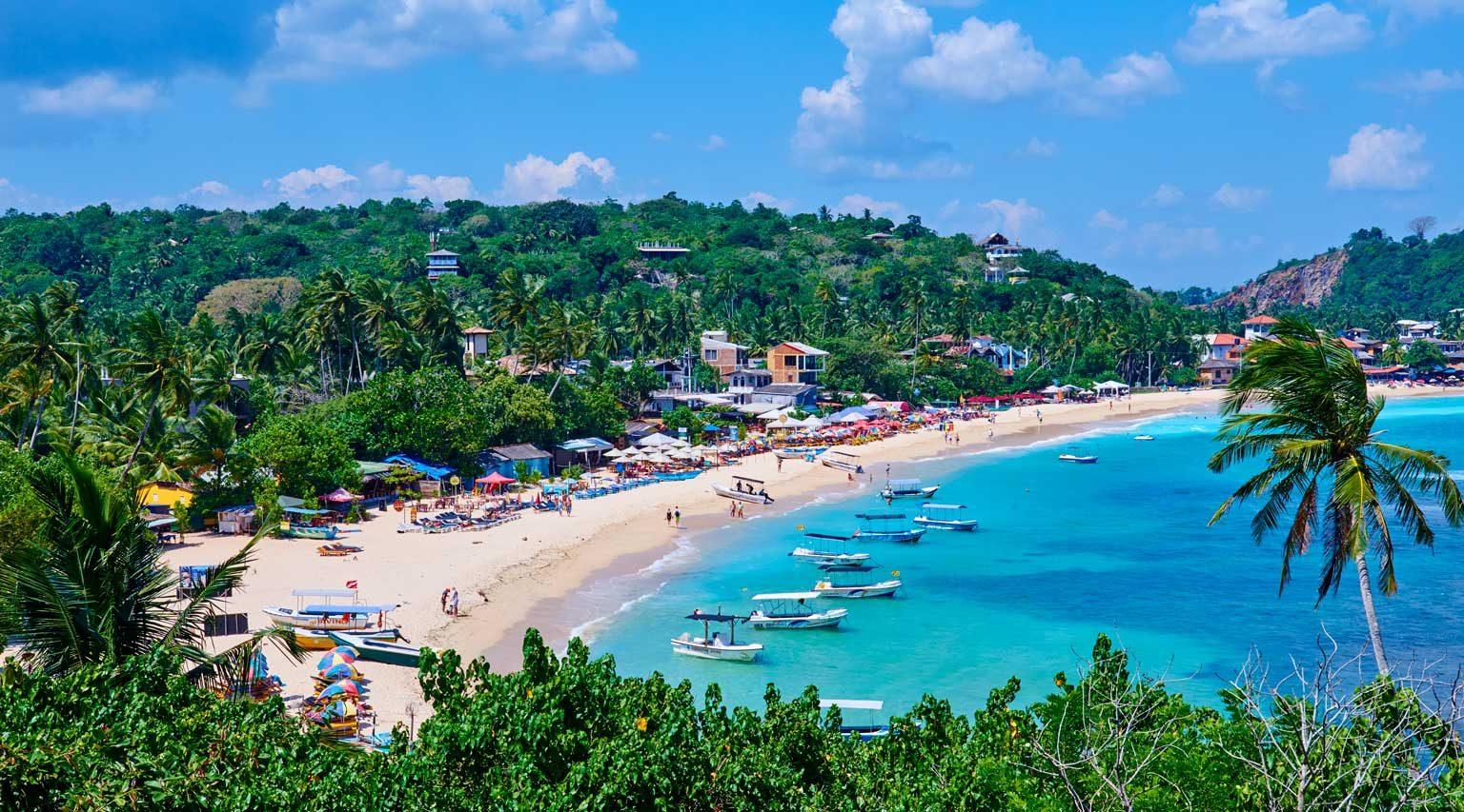 Sri Lanka, Southern Province, South Coast beach, Galle district, Unawatuna beach