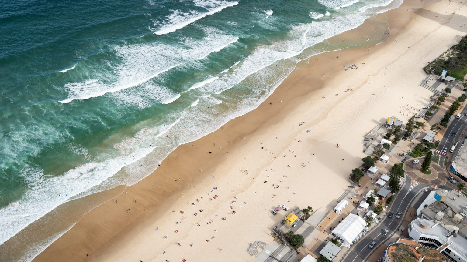 View of Surfers Paradise beach and ocean from Peppers Soul.