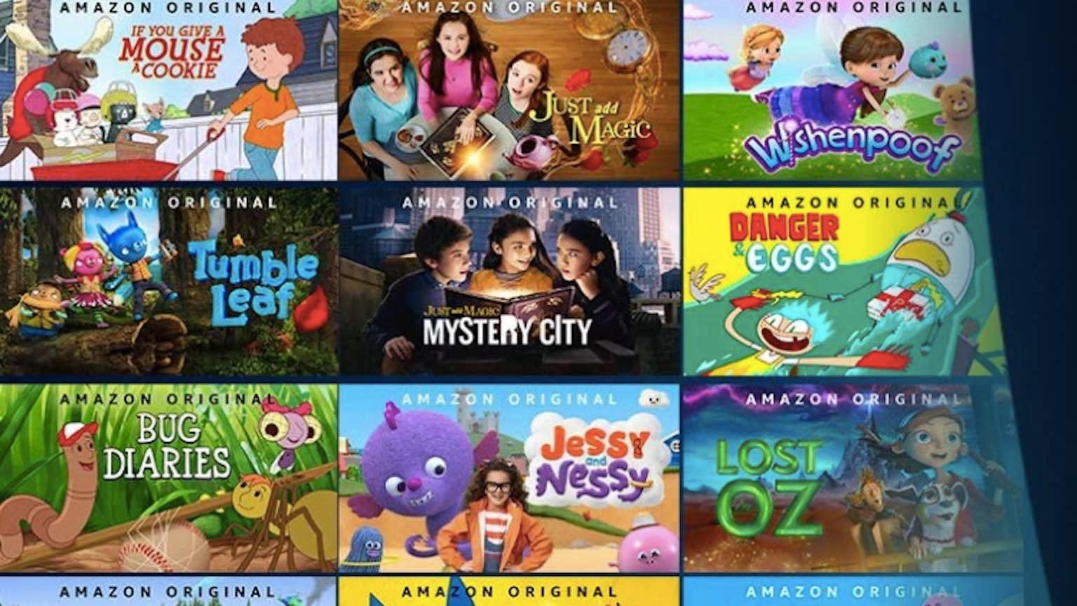 Selection of Amazon Prime Video originals kids shows