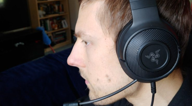 Razer Kraken X USB on head
