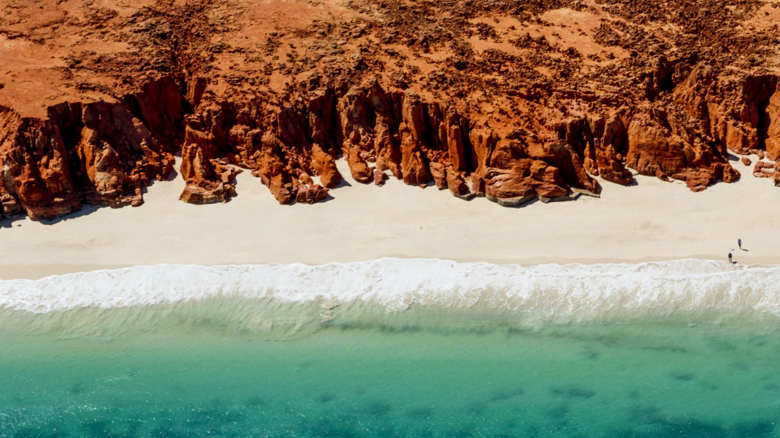 Aerial view of beach in Western Australia