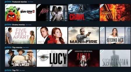 Full list of Amazon Prime Video Store content