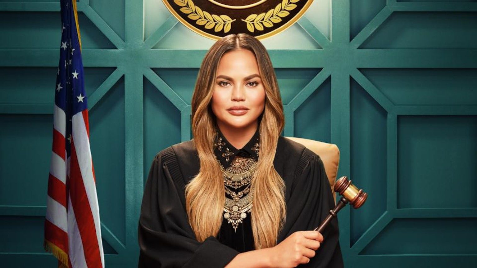 Chrissy Teigen dressed as a judge