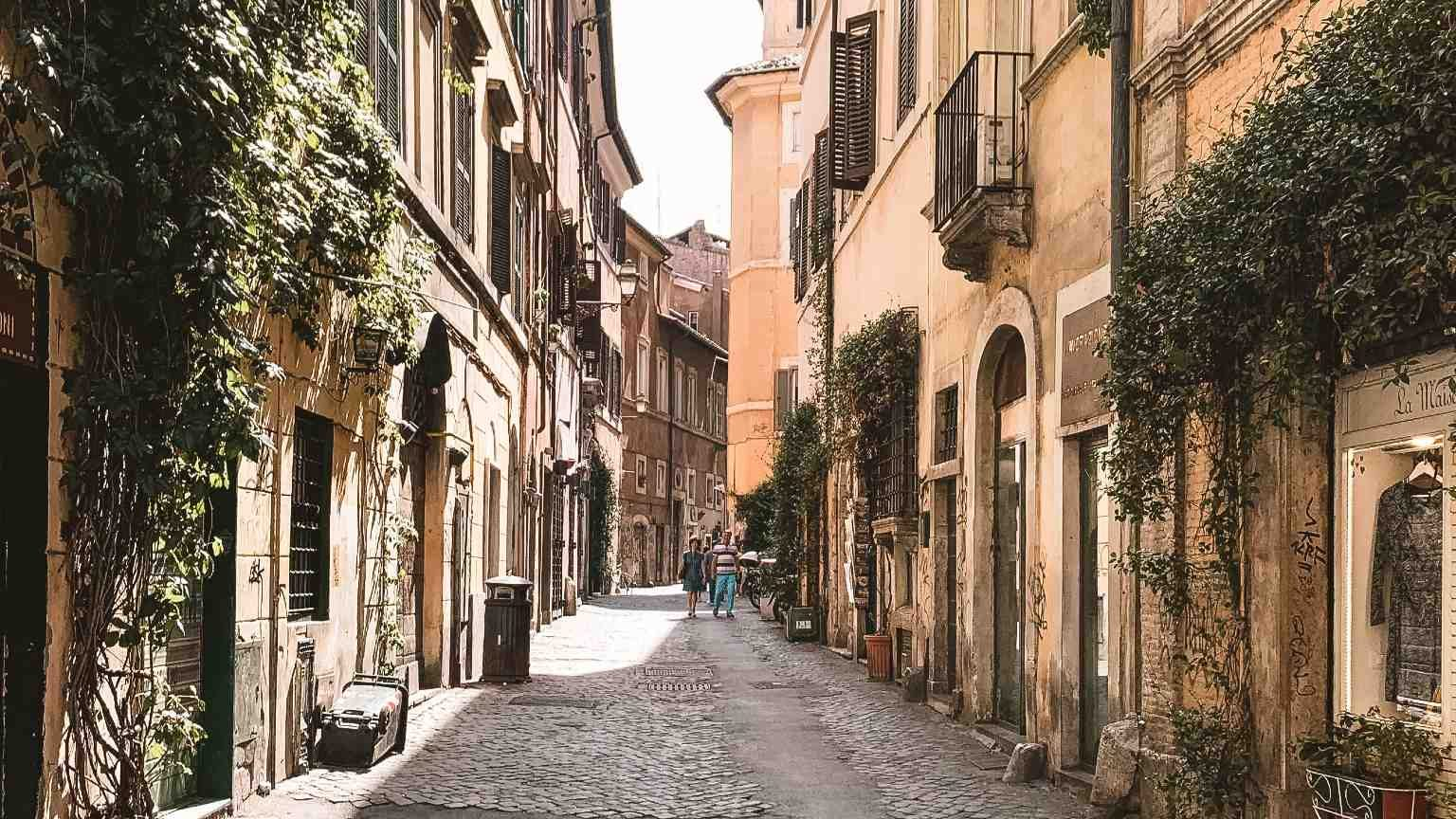 Laneway in Rome, Italy