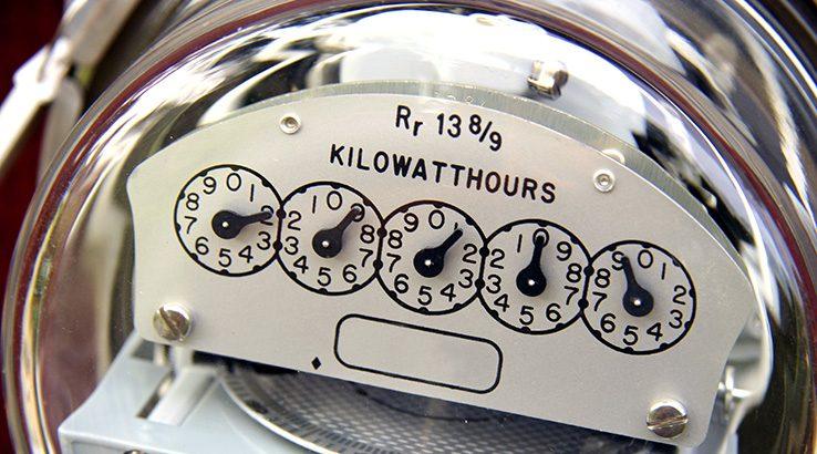 Close view electric meter