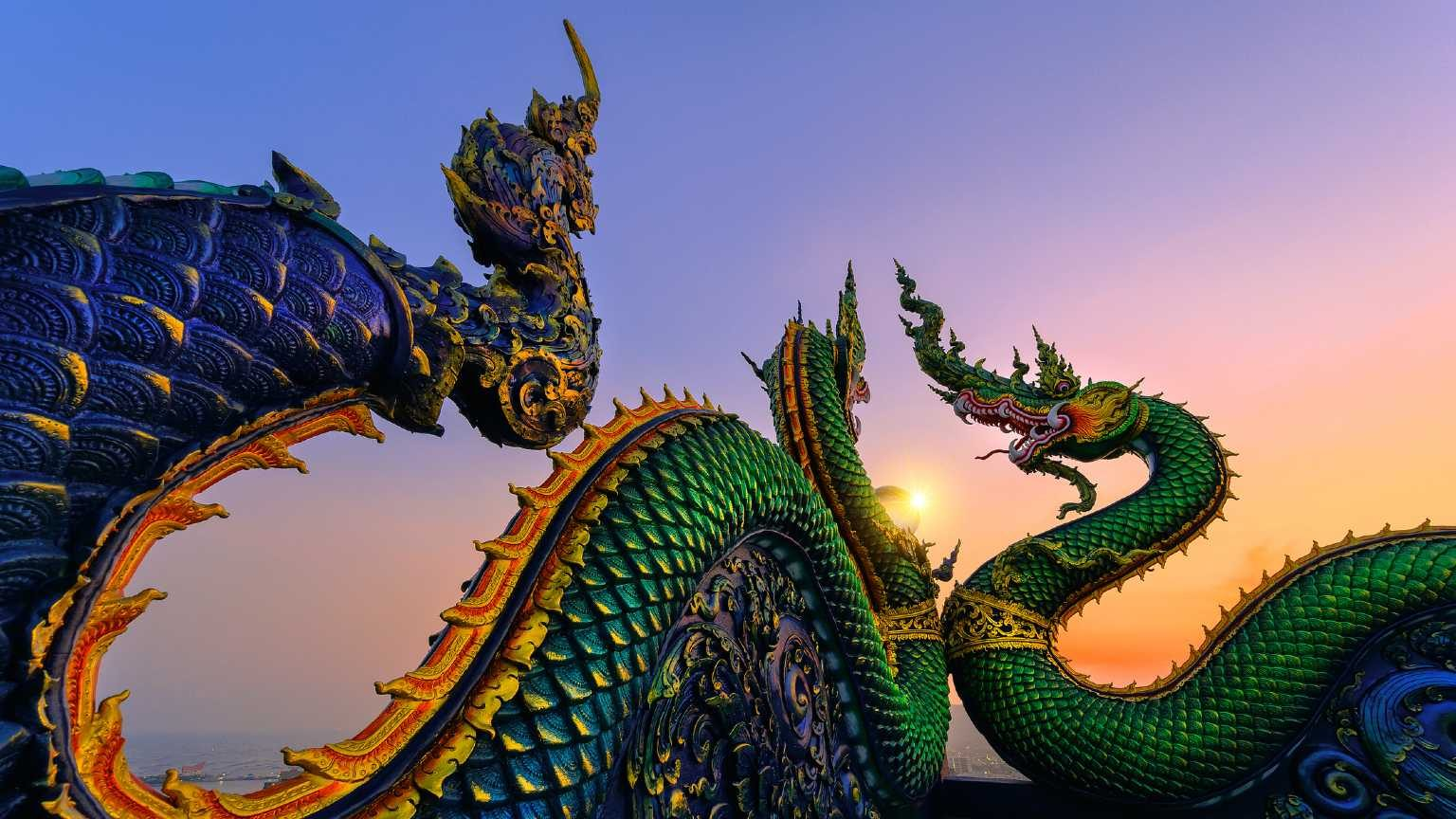 king of Nagas, Serpent of Crystal, Ball The magnificent architecture of the temple