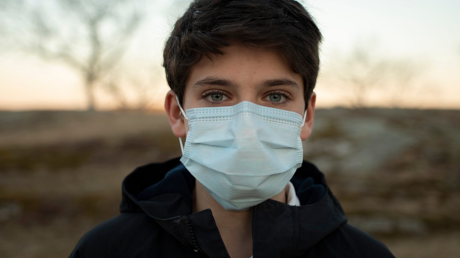 boy wearing face masks