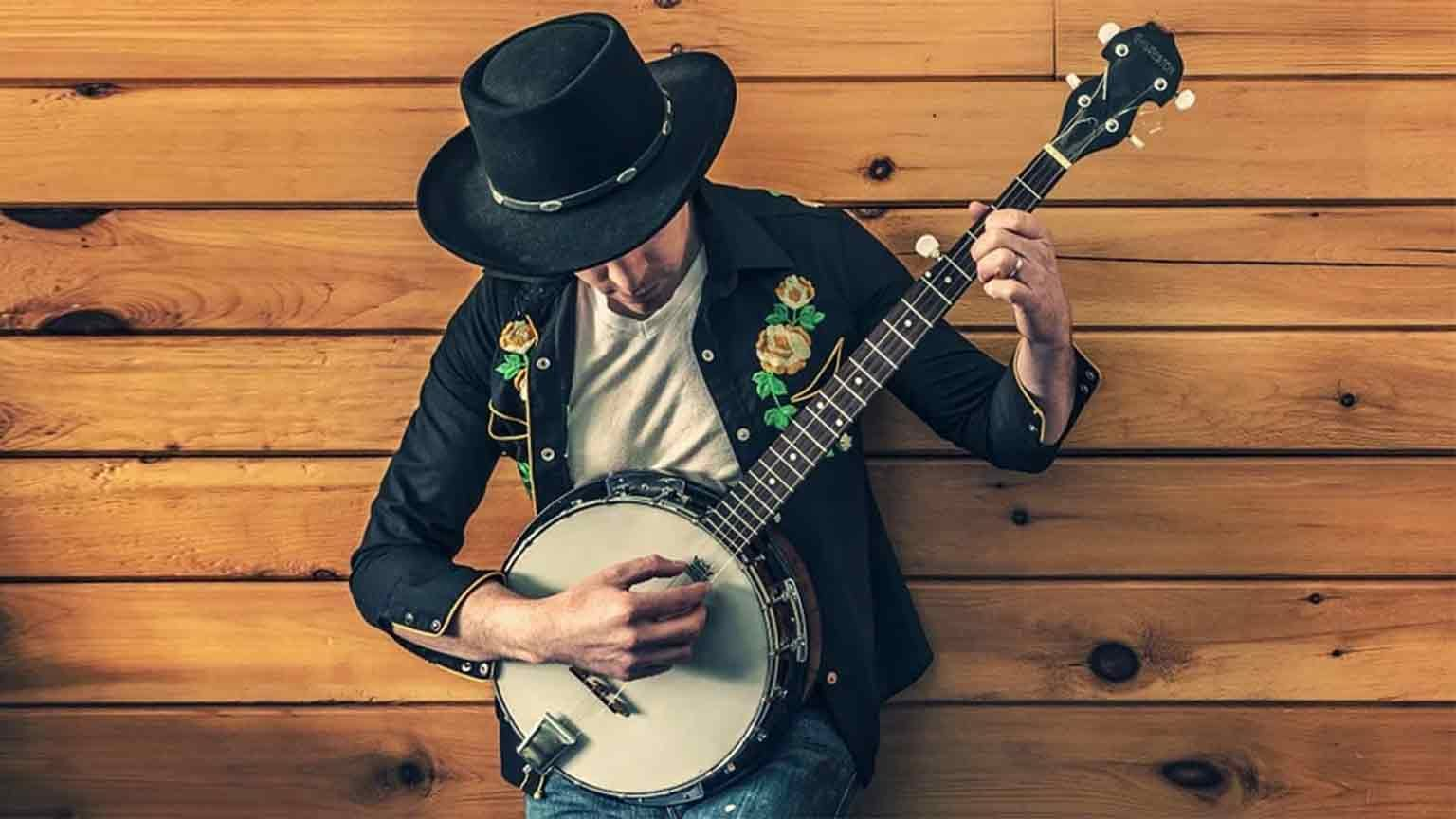 Musician playing a banjo