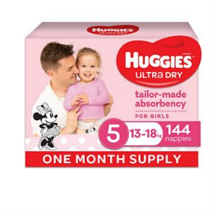 One-month supply of Huggies Ultra Dry nappies for $40