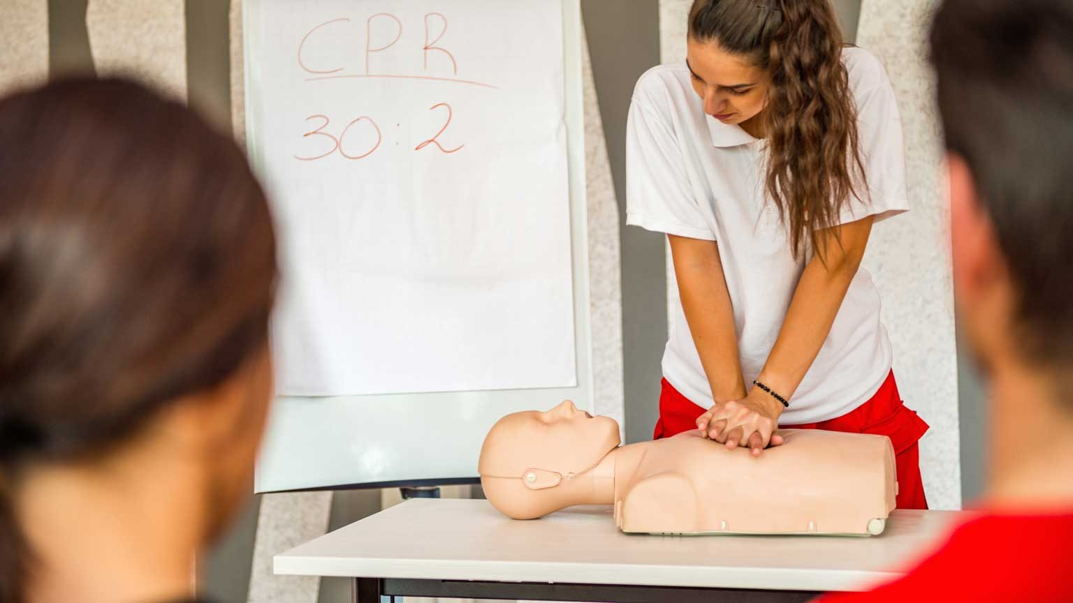 Instructor Demonstrates Cpr