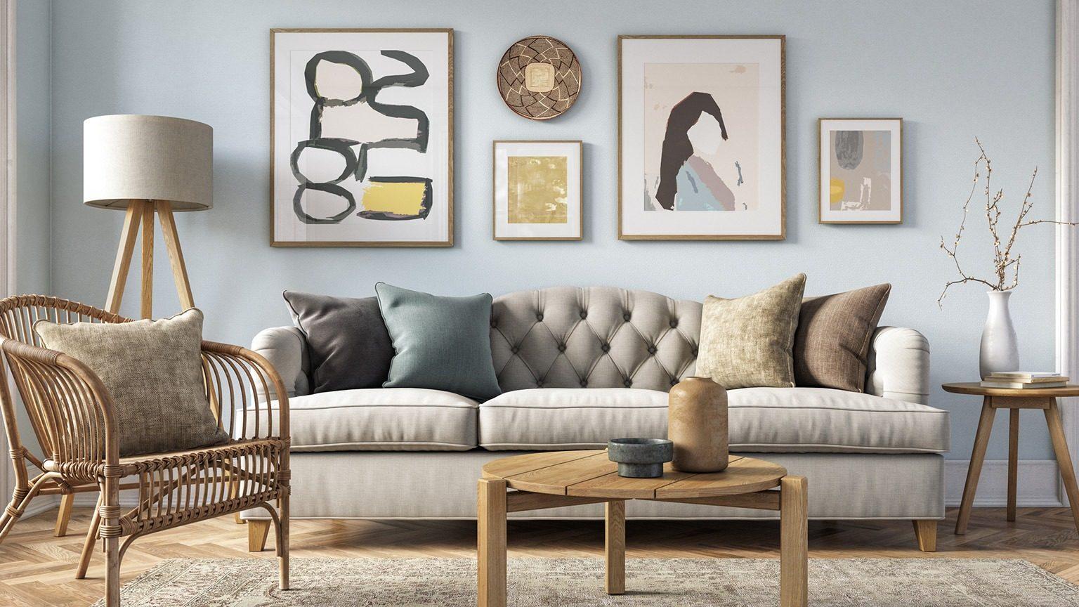 Art works on living room