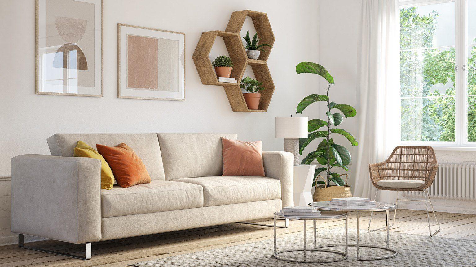 Bohemian living room interior