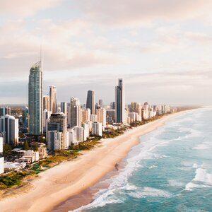 Gold Coast beach.