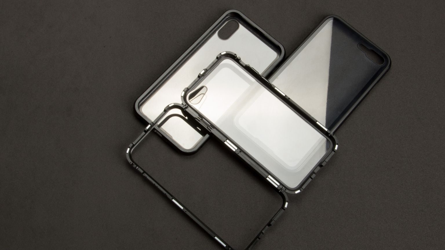 High Angle View Of Phone Cover On Table