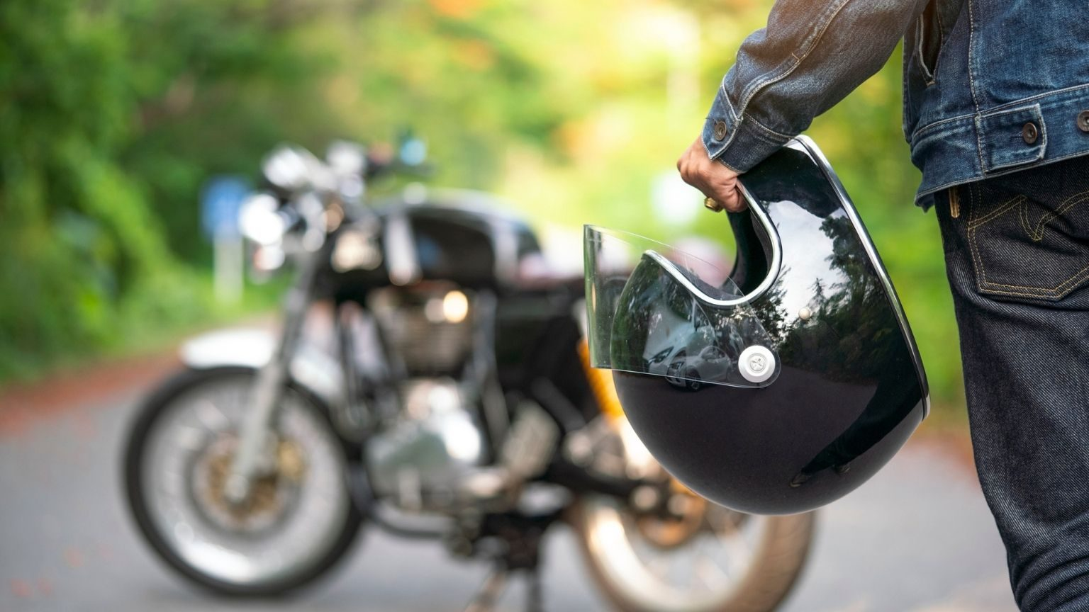 man holding a helmet