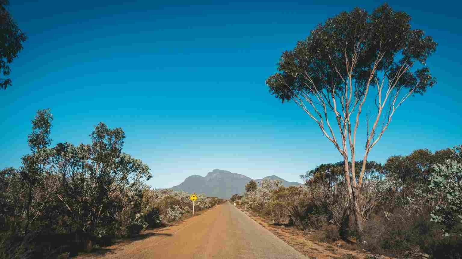 Road towards Bluff Knoll in the Stirling Ranges, Western Australia