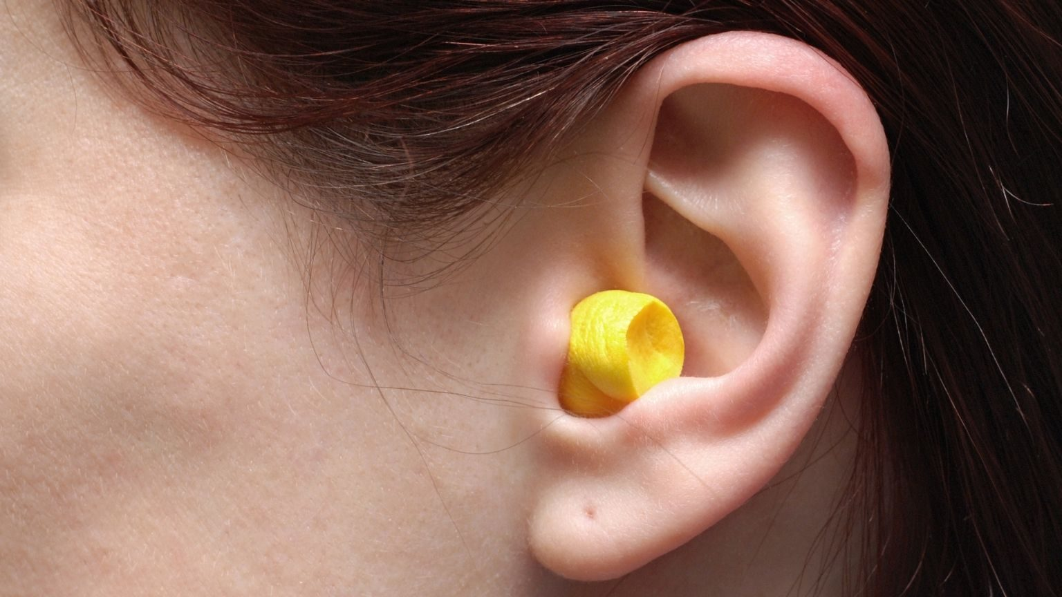 ear with a ear plug