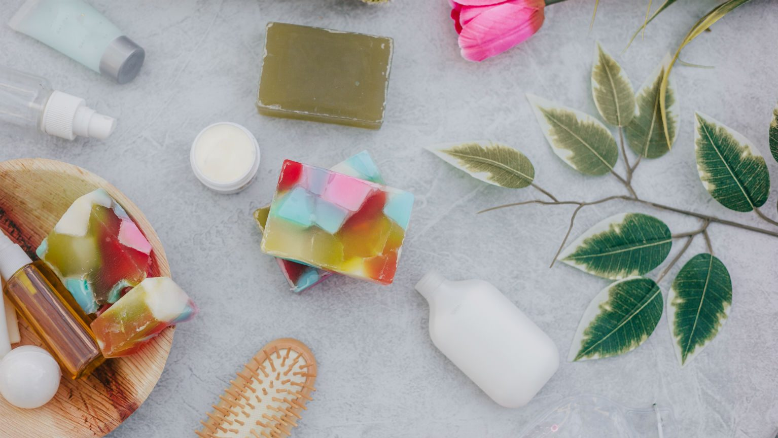 Spa soaps and products