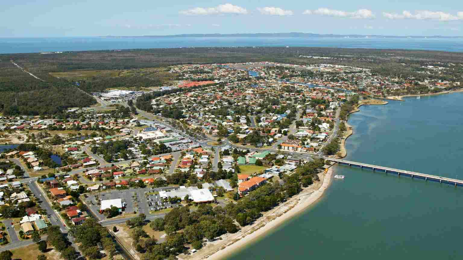 aerial view of bribie island