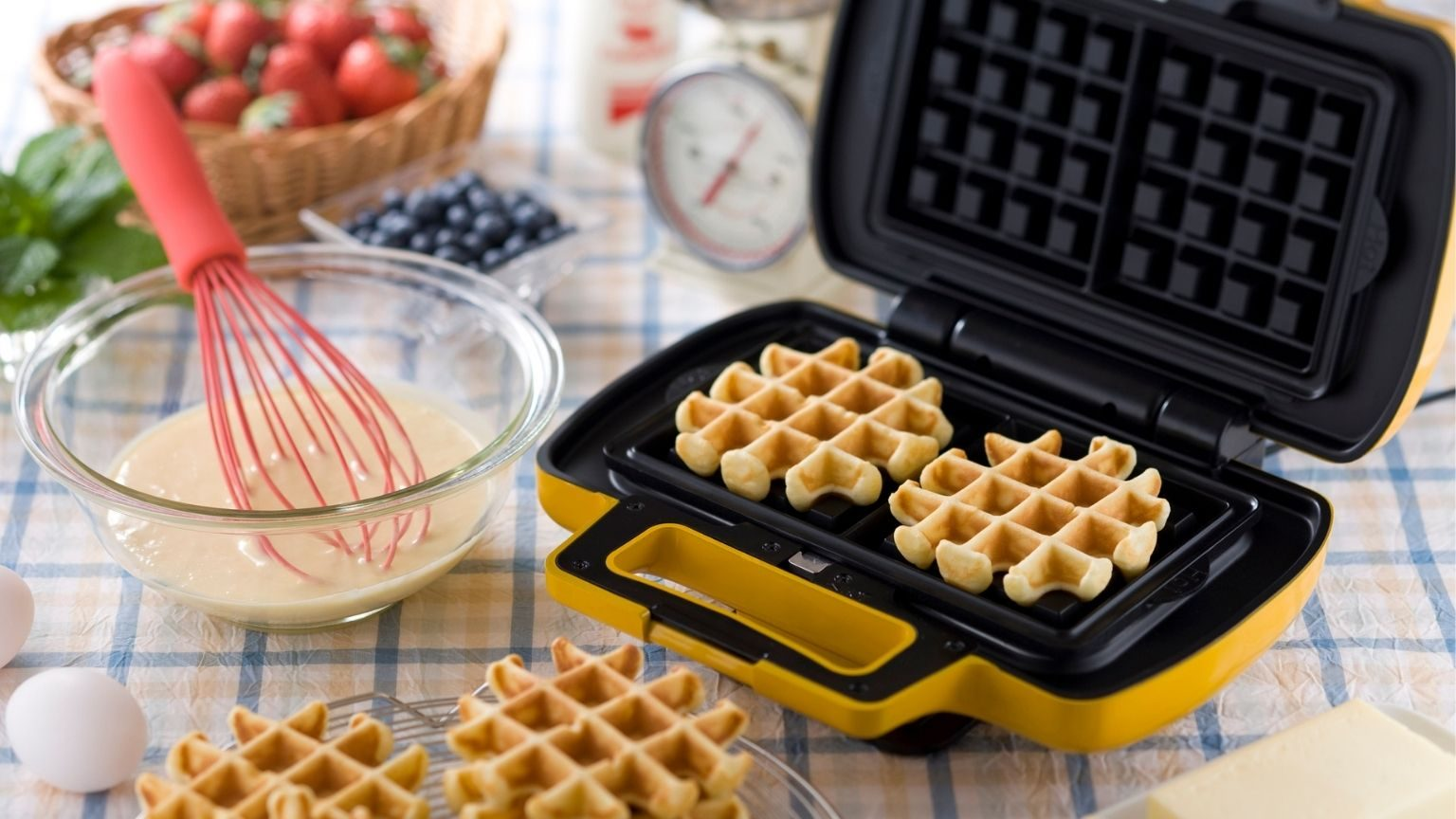 Waffle and Ingredients