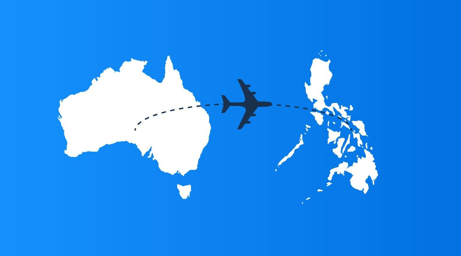 From Australia to the Philippines map
