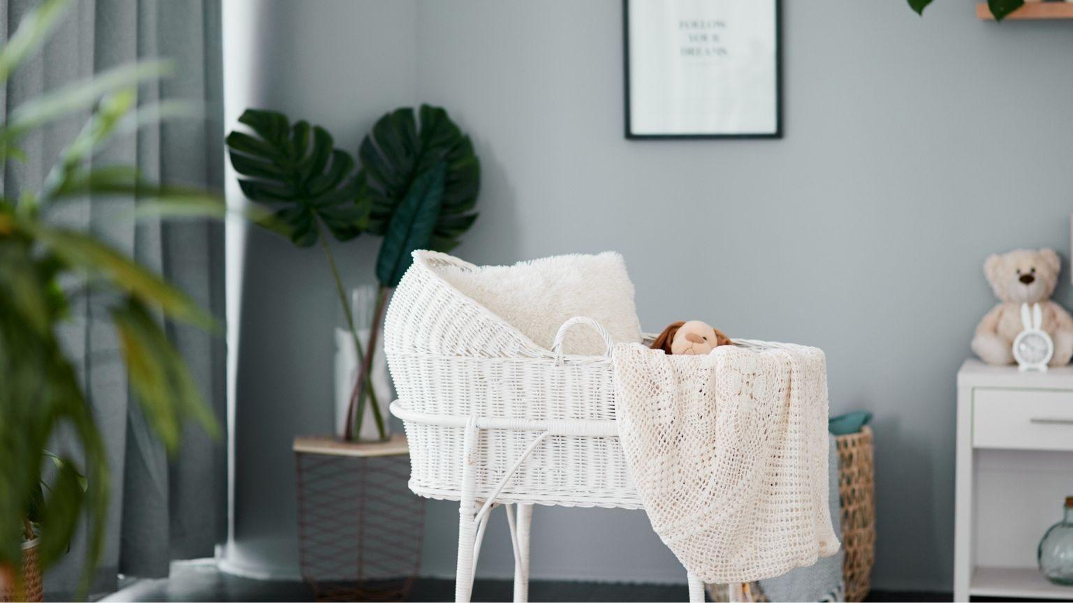 Elegant nursery with bassinet