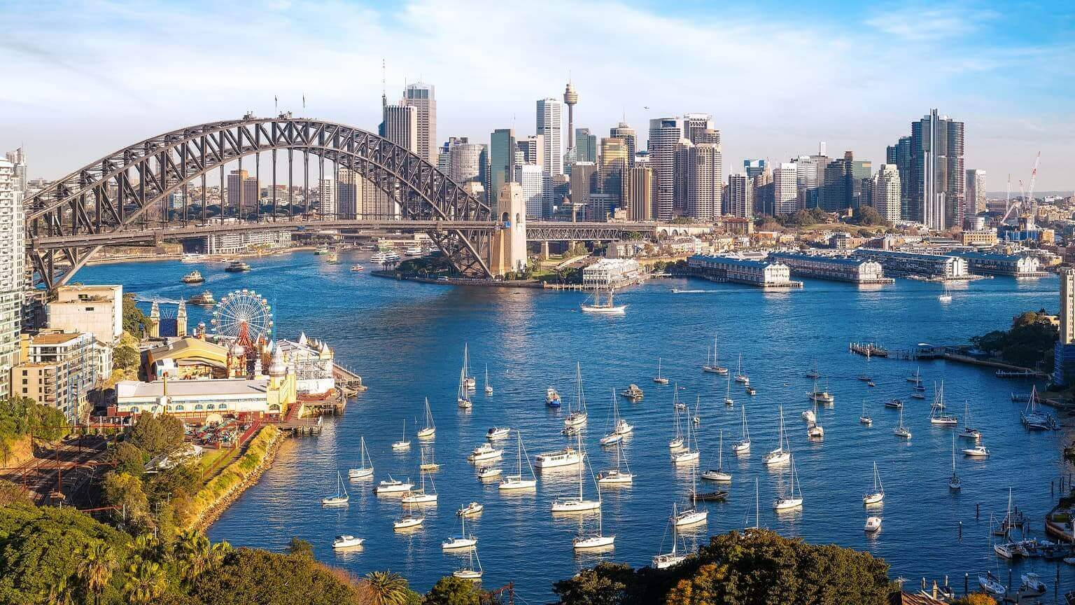 Panorama Of Sydney City, Cityscape Of New South Wales