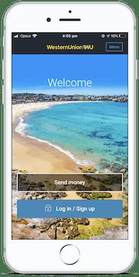Скриншот приложения Western Union