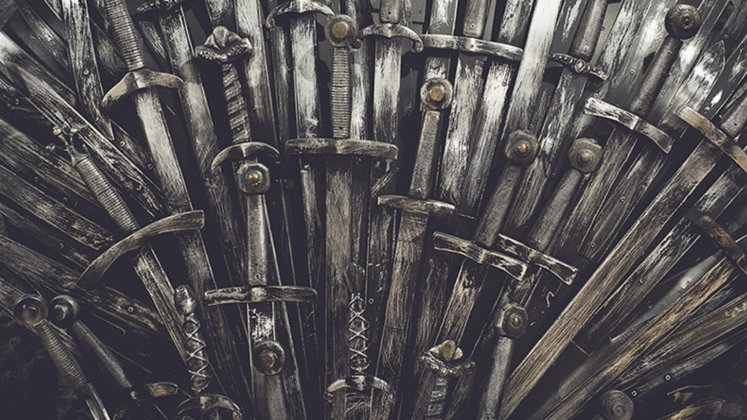 Swords from the throne in the series game of thrones