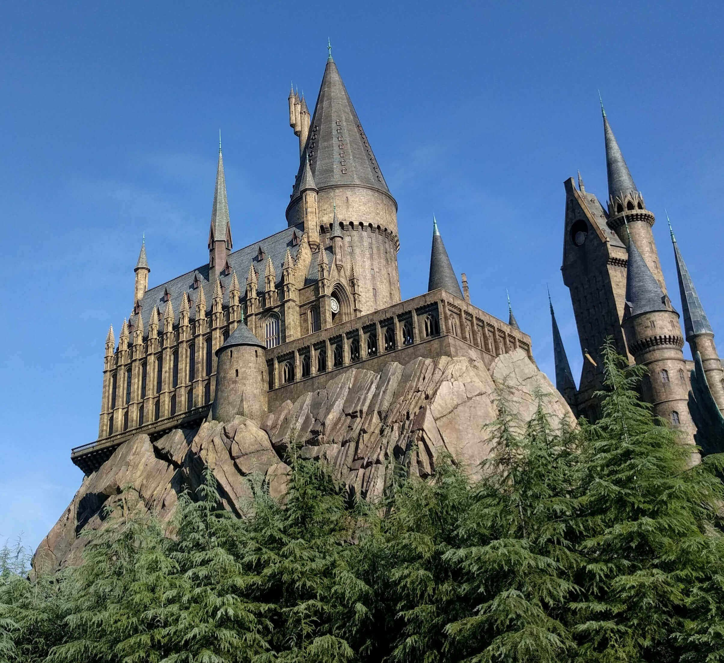 Hogwarts castle from bottom view