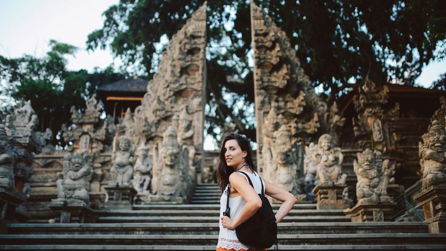 Woman tourist in bali