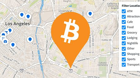MAP: Find bitcoin ATMs and stores that accept BTC as payment in Los Angeles