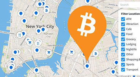 MAP: Find bitcoin ATMs and stores that accept BTC as payment in New York City