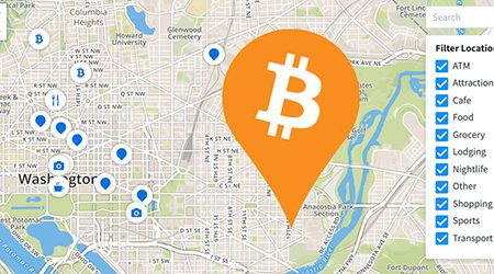 MAP: Find bitcoin ATMs and stores that accept BTC as payment in Washington, DC