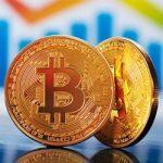 Bitcoin logo on gold coin