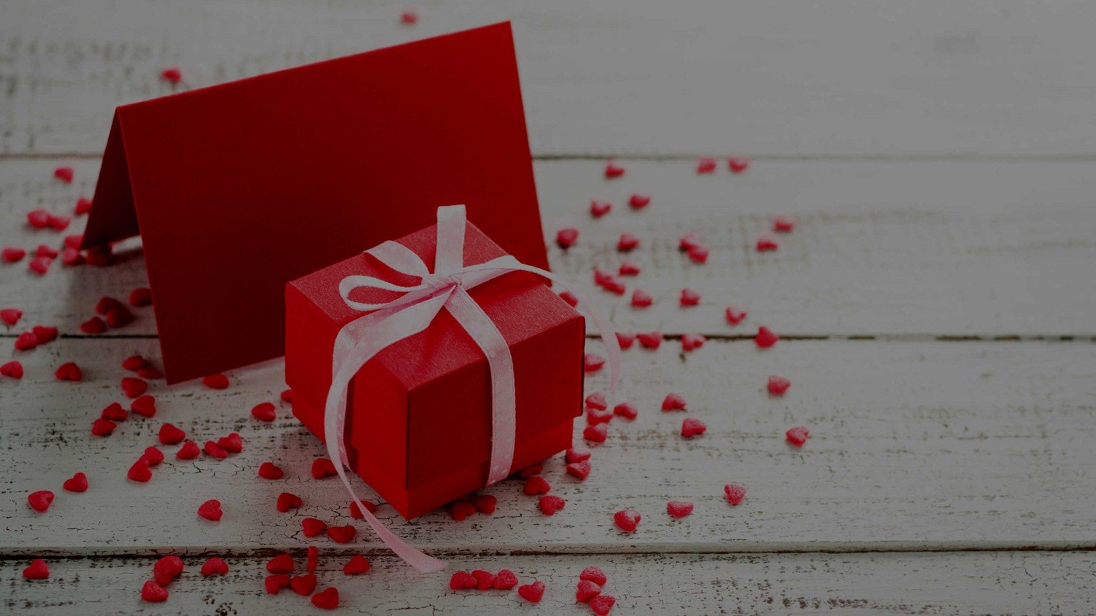 Valentine card with a gift box