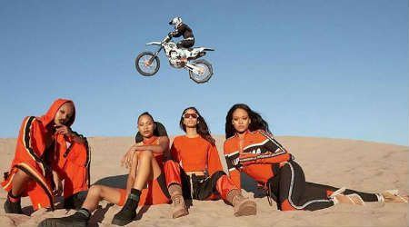 Beach chic and motocross merge for Rihanna's latest Fenty x Puma collection