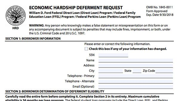 Steps To Request Student Loan Deferment 8 Forms Finder Com