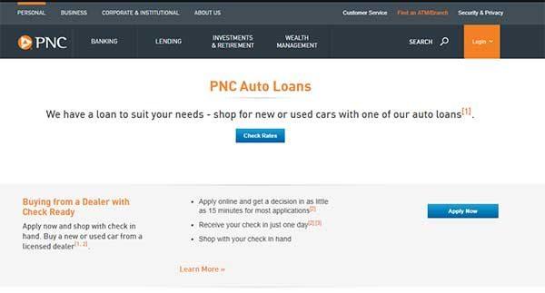 pnc bank auto loan payment website