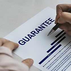 Person signing a personal guarantee agreement