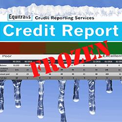 Credit report frozen