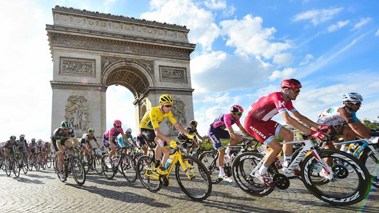 Tour de France riders.