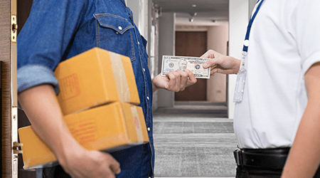 How to send door-to-door cash