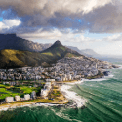 Sprawling view of Cape Town and the Mountains